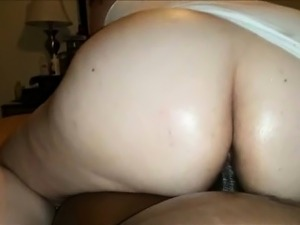 Amateur BBW Interracial POV cock riding