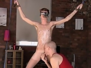 Gay cub bondage Twink guy Jacob Daniels is his recent meal,