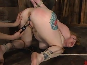 Adrianna Nicole Enjoys the rubber toy inside Her Depths And Pegs onto Her...