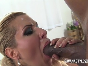 Savana Styles Gets Ass Rimmed and Rammed by Black Cock