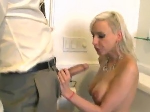 Big-Titted Blonde chief Giselle Monet touches And bonks Her Employee's...
