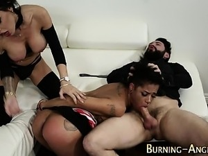Goth slave gets fucked