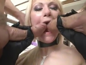 Blonde serf doll having got laid Brutally By 2 chaps