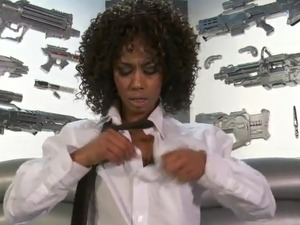 Misty Stone inside Weird Government Lab beside Alien xxx Toys!