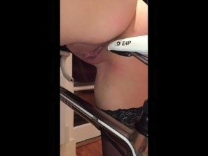 Wife Rubs Herself On Hubby's Bike