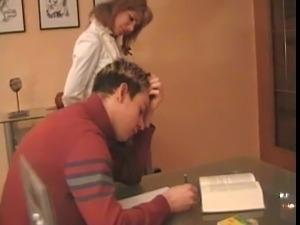 Hot Mom Teaches School Boy