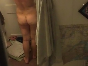 spying wife's ass in the shower