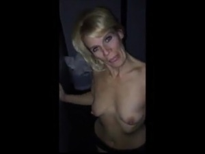 Mature blonde blows through the glory hole pt2