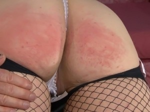 Bare bottom Spank