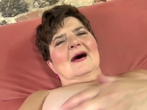 Amateur grandmother with big thirsty vagina