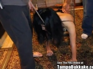 Petite Chinese Sex Slave Gagged by Black Cock