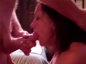 Mature Wife Sucking Fat Cock Until Cum In Mouth
