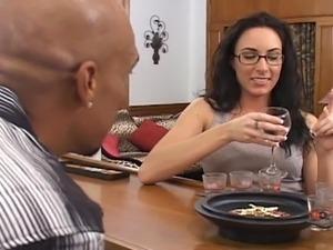 Muscular black fucks white woman