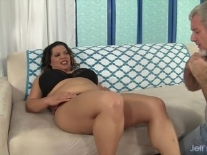 Thick and sexy BBW Lady Spice rides a fat dick