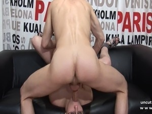 Casting couch busty french brunette banged n jizzed on body