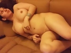 Desi Wife Nude on Sofa