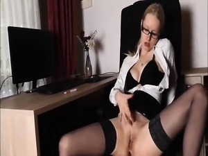 Sexy office lady gets some in the place of work with office