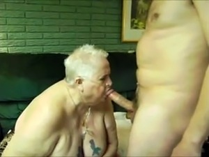 chubby granny sucking hard
