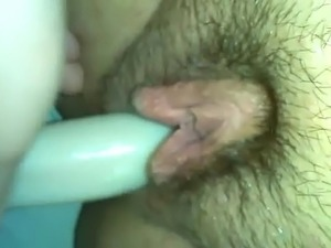 Dildo In Hairy Pussy Part 2