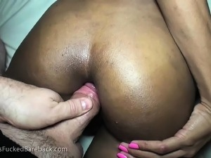 Petite Oriental ladyboy gets her tight butt fucked rough and creampied