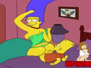 Cartoon Porn Simpsons porn Marge fuck his son Bart