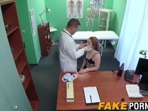 Horny doctor examines Alexs tight pussy with his hard cock