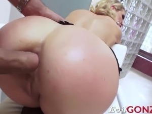 Hot blonde Cherie DeVille getting hard anal pounding