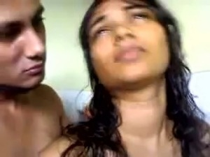 Look how my busty Desi girlfriend gives me blowjob in bathroom