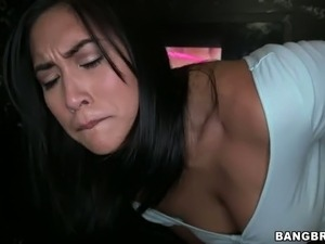 Sexy Asian sweetie Mia Li fucks with white horny man through glory hole