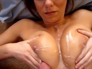 homemade big natural tits titfuck cumshot compilation