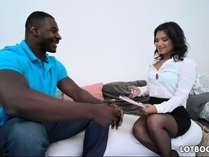 Latina juicy ass teacher Martini Bows and huge black cock
