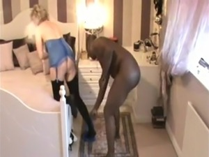 Cuck hubby sucks bbc & enjoys his wife fucking BBC