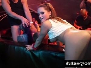 Awesome pornstars fuck in the club