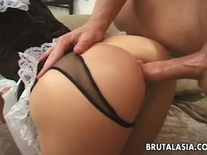 Hot and horny babe bounces on a hard cock