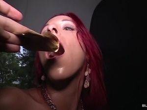 Bums Bus - Naughty German redhead in wild bus fuck