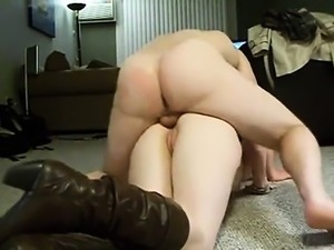 Big-ass in shoes gets fucked in her opening that was anal