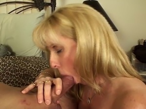 Licking Up A Tasty Load of CUM