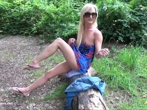 Sexy blonde Debbies public flashing and outdoor babes masturbation in parks...