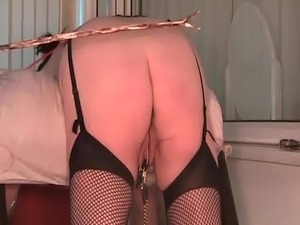 Homemade Hard Caning in Fishnets