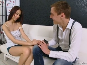 Perfectly shaped Russian hussy Lena is examined by nasty gyno doc