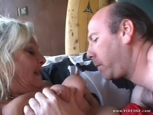 Mature Blonde Blows A Big Dick