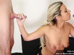 MILF Alana Luv Gives Multiple Blowjobs & Gets Facials