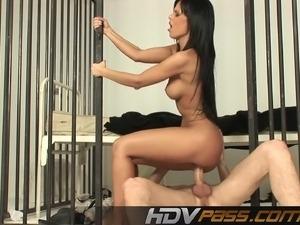 Black Angelica sex in prison