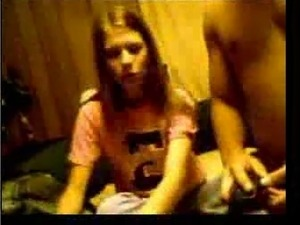 Young couple of teen people deciding to fuck on webcam for me