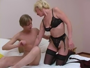 Fantastic Russian MILF giving a blowjob while hubby is away
