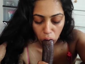 Indian Girls first oral creampie