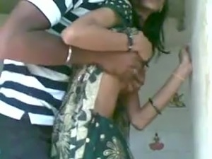 Homemade video with Indian couple having clothed sex