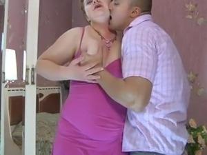 bbw russian stepmom loves hard  anal creampie