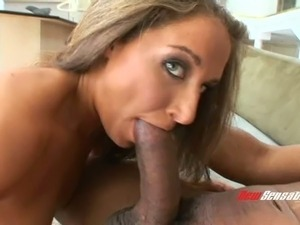 Exquisite blonde with fabulous natural tits and a wet shaved pussy enjoying...