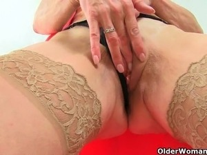 British milfs Lady Sextasy and Diana love toying pussy